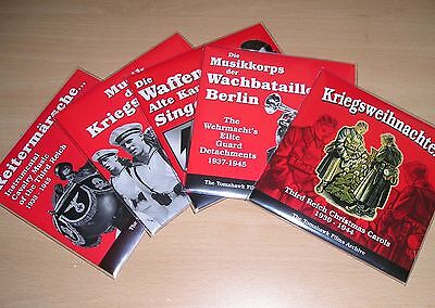 5 x Original & New ex-Tomahawk Films WW-II German Music CDs...#13
