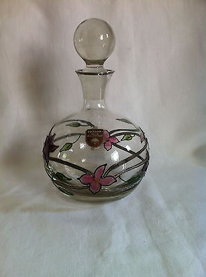 Glass decanter Tiffany wine 1980s