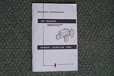 Massey Ferguson 35X Tractor Operator Instruction Book