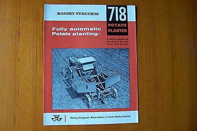 Massey Ferguson  718 Potato Planter Sales Brochure