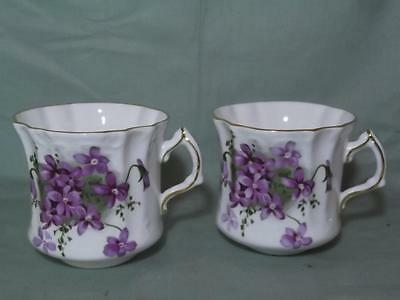 2 Tea Cups Hammersley Victorian Violets
