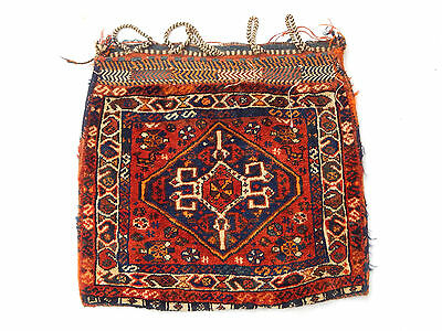 Old Traditional Hand Made Oriental Colourful Wool Kilim Cushion 60x59cm (134)
