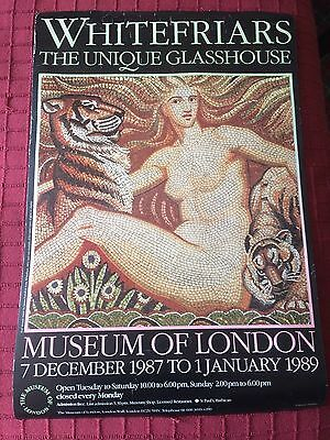 Beautiful Poster Whitefriars Museum of London Exhibition 1987 - 1989