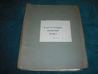 Vickers vc-10  R.A.F. conway engine manual rare.