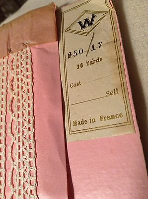 Antique White French Cotton Lace Bulk Unused Sewing Trims Dolls