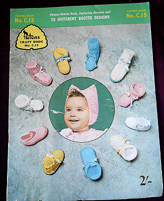 Vintage Patons Book 22 Different Booties Baby Knitting Patterns No C15