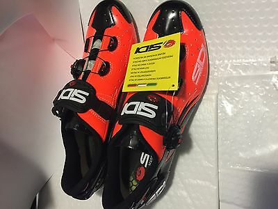 Sidi wire carbon vernice orange/black road cycling shoes 46