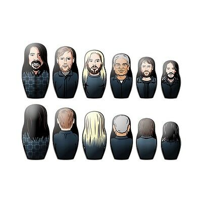 Foo Fighters - Concrete And Gold - Russian Nesting Dolls Set Of 6