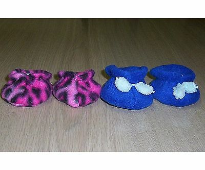 SHOES / BOOTS / SLIPPERS 2 Pair MY CHILD size DOLLS CLOTHES