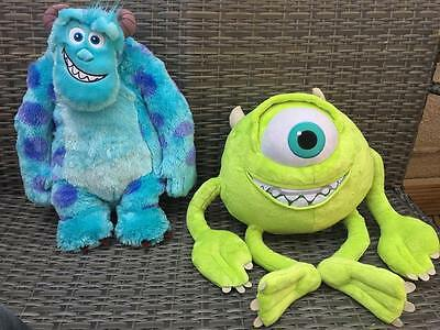 """Extra Large Disney Pixar Monsters Inc University 21"""" Sully & 19"""" Mike Soft Toys"""