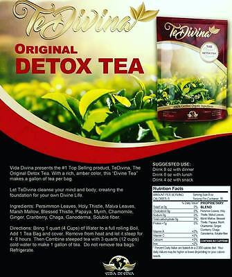 VIDA DIVINA TeDivina The Original Herbal Natural Detox Weight Cleanse Beauty Tea