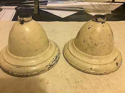 2 Antique 4 1/2 Paint Art Craft Deco Victorian Brass Ceiling Light Sconce Canopy
