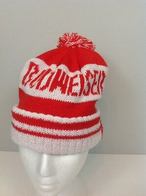 vintage red and white budweiser snow hat tuque toque one size fits all