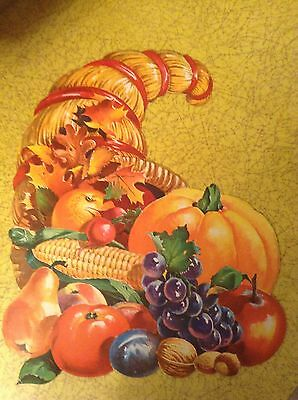 Vintage Thanksgiving Decoration Horn Of Plenty