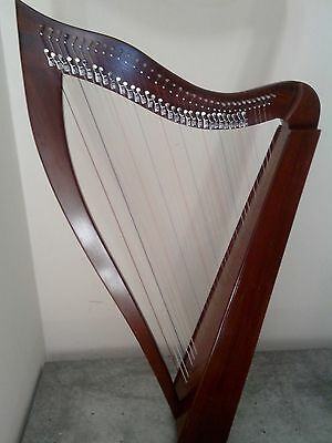 Celtic Harp Rosewood 36 Nylon Strings, Brass Levers with Bag +Tuning Key