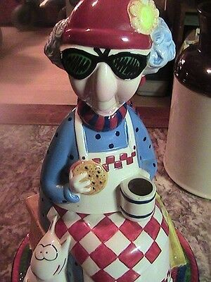 Maxine Hand Painted Cookie Jar by J. Wagner Cookies Not Just For Breakfast EUC