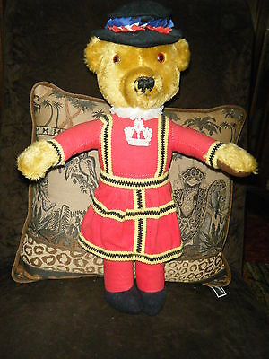 """18/19"""" Beefeater Bear By Merrythought!"""