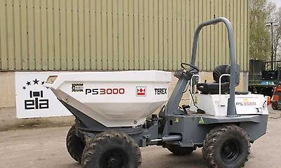 Terex Benford PT & PS 3000 Straight & Swing Dumpers - Parts Manual