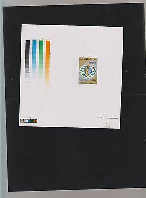 E) 1974 Morocco, Proof, Map Of Africa,  Scales, Human Rights, 25Th Anniv Of The