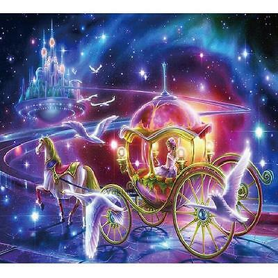 5D 3D Cinderella Carriage Embroidery Cross stitch Mosaic resin tile picture kit