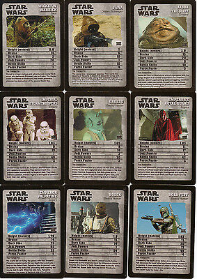 Star Wars Trading Card Lot - 23 Top Trumps Ep Iv-Vi Tin + 10 Ep Vii Poker Cards