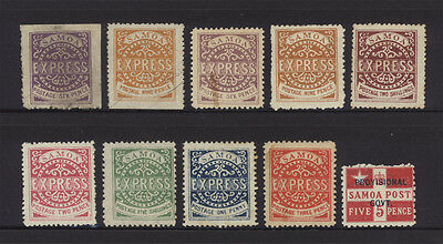 Samoa 1877-82 Express Issues small lot Used & MH