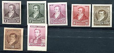 7 scarce Argentina proof stamps 1892+