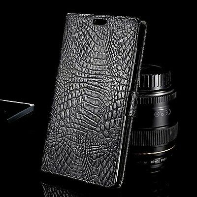 Luxury Crocodile Skin Wallet Flip  PU Leather Case Cover For Sony Various Models