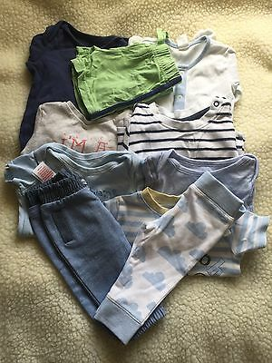 Pre-loved/0-3 Month/boys Clothes Bundle/ Baby grows/tops B5