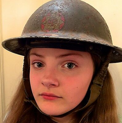 WW2 British National Fire Service Helmet & Civil Defence Certificates & More