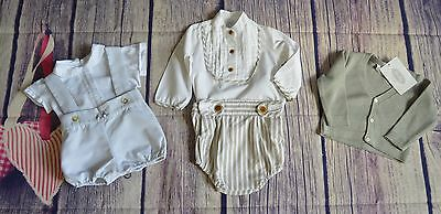 Baby Boys Romany Spanish Designer Summer Clothes Bundle Foque Rochy Immaculate