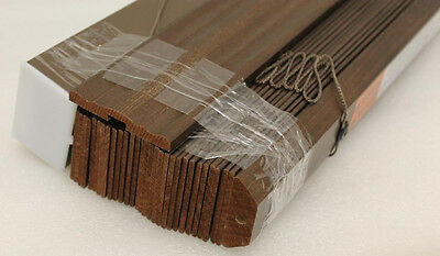"""Graber Traditions 2"""" Wood Blinds 21"""" x 52-1/4"""" Paints & Stains Saddle Brown"""