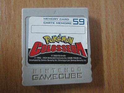 "carte mémoire / Memory Card (Nintendo Gamecube) ""Pokemon Colosseum"" /59 Block's"