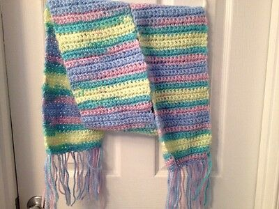 Hand Knit Pastel Scarf