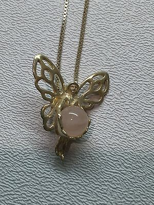 Sterling Silver FAIRY Necklace 18""