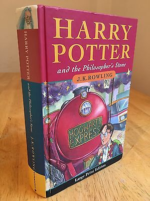 Harry Potter and The Philosopher's Stone Large Print First Edition 1st Print