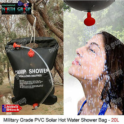 20L Outdoor Camp Solar Shower Bag Solar Heated Water Pipe Portable Hiking Travel