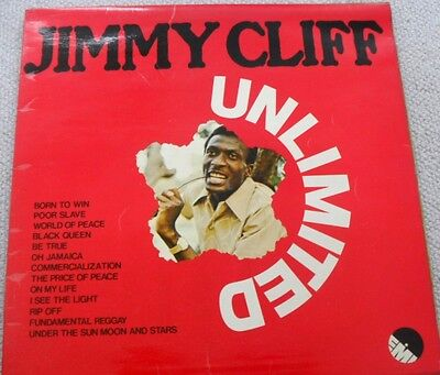 JIMMY CLIFF: UNLIMITED  1973 REGGAE LP 33rpm