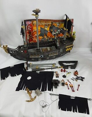 Pirates of The Caribbean Black Pearl Ship Mega Bloks Incomplete - Captain Jacks