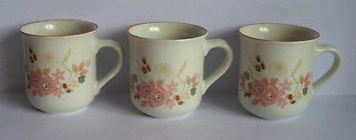 Superb Set Of Three Boots Hedge Rose Tea / Coffee Mugs - Wow!