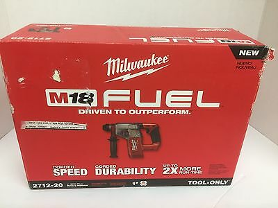 "Milwaukee 2712-20 M18 FUEL 1"" SDS Plus Rotary Hammer TOOL ONLY"