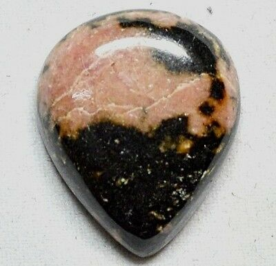 28cts 100% Natural Pear AAA Rhodonite Loose Gemstone Cabochon From Africa