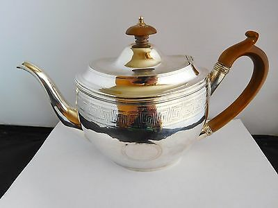 Good Size Georgian English Sterling Silver Tea Pot - London 1805