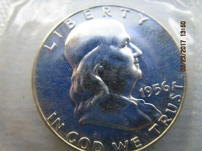 Franklin 1956 half / sealed High Grade Proof / Beautiful untouched coin /item bf