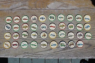 Vintage Lot Of 39 Jell-O Antique Car Coins Wheel Collectable Advertising