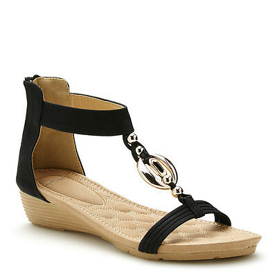 NEW Women's NOVO ROBY BLACK Shoes WEDGES, SANDALS
