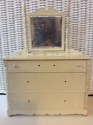 Vintage Collectible Ideal Thumbelina Nursery Furniture Doll Dresser Armiore