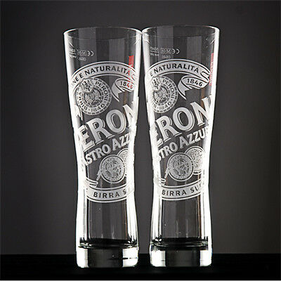 Set Of 4 Peroni Nastro Azzurro PINT Glasses 20oz Brand New 100% Genuine