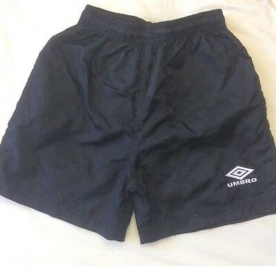 Vintage Men's Swimming Trunks Bottoms Board Shorts Black Checkered Umbro Size S