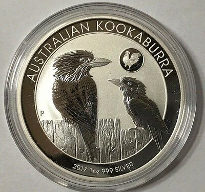 2017 Australian Kookaburra with Rooster Privy 1 oz .999 Silver Bullion Coin